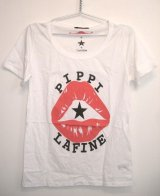 LaFine★PippiCollaborationCreate NowチャリティコラボPippi LipsTシャツ(White)(Black)