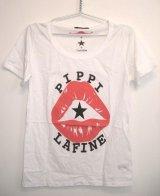 LaFine★PippiCollaborationCreate NowチャリティコラボPippi LipsTシャツ(White)(Black)