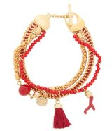 HENNRI BENDEL★EAST HAMPTON CHARM BRACELET/Red