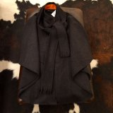 GLOW LONDON ★Wool Coat Poncho Stall style /gray