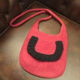 SpainBarcelona★100%Wool HandMade Bag/red