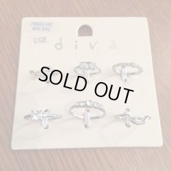 画像2: LONDON★FINGER AND MIDI RING  6SET sml/lge