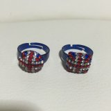 LONDON★UNION JACK Circle & Square RING/free /by POP BOUTIQUE