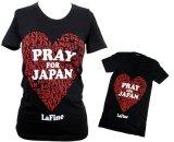 LaFine★ Pray for Japan Scoop Neck東日本大震災被災地復興支援チャリティーTシャツ